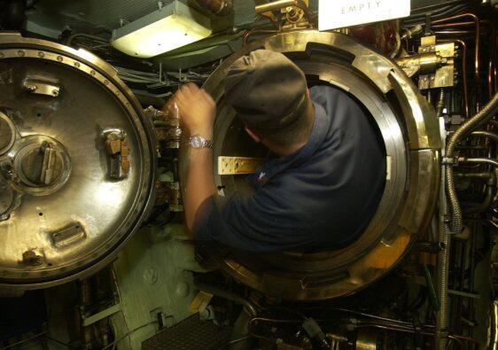 Beim U-Boot fahren darf man kein Problem mit Enge haben.